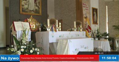 Msza Święta Dożynkowa Powiatu Częstochowskiego